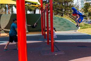swings in braodbeach playground