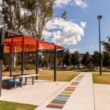 Logan Gardens seating and shade