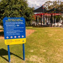 Logan Gardens water park sign