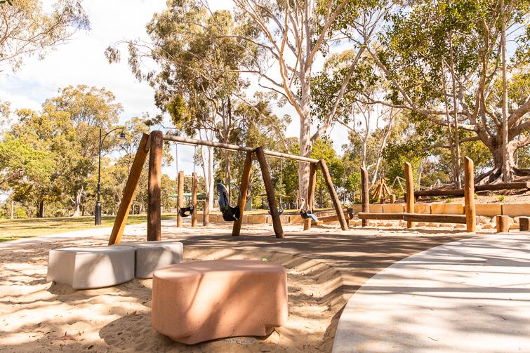 Logan Gardens swings