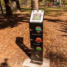 Logan Gardens run markers