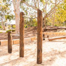 Logan Gardens swinging bars