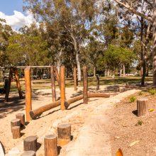 Logan Gardens stepping logs