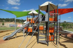 fun orange playground, Brisbane, Queensland