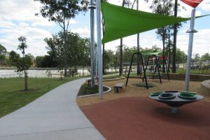 flat concrete pathway in north brisbane playground