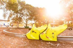 Pengana Playground monorail golden hour