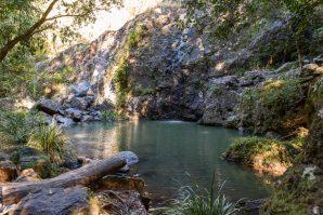 Cilento Park bushwalk waterfall