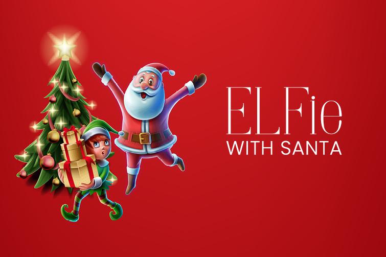 elfie with santa