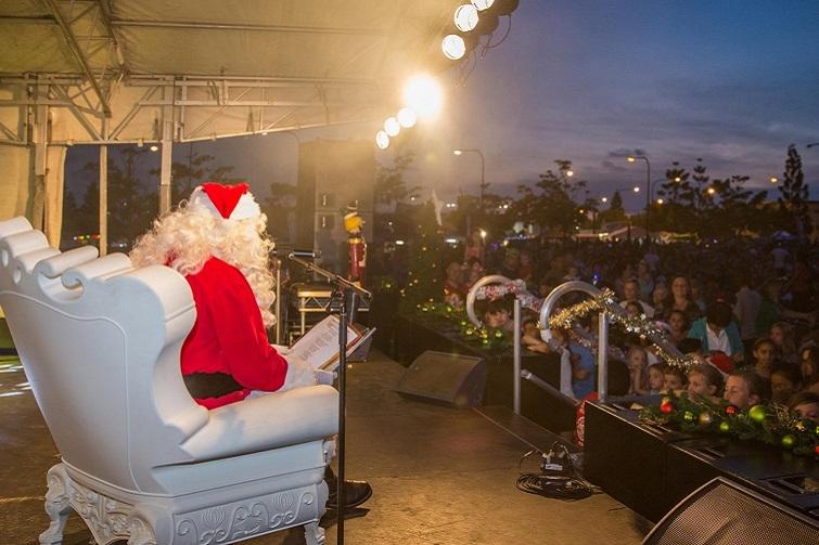 Santa at the carols