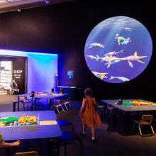 sea monsters kids activity area