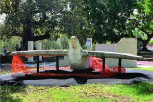 Concrete plane playground