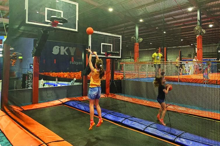 Trampolining Basketball Hoops