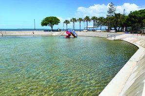 Wading pool and slide