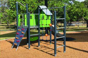 Green play house playground
