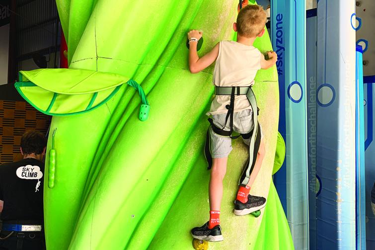 Skyclimb boy climbing