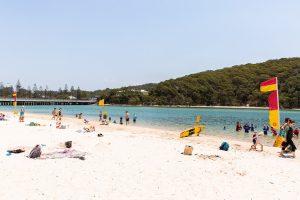sunny gold coast beach, tallebudgera