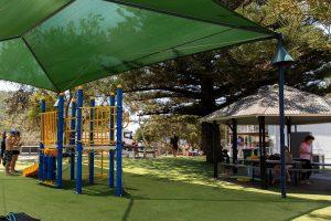 shady playground and picnic area at tallebudgera
