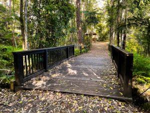bridge and picnic area