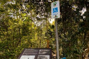 Buderim tramway walk information sign