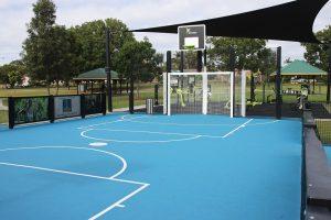basketball court. meadowlands park.