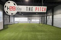 Indoor soccer pitch at H28 football academy