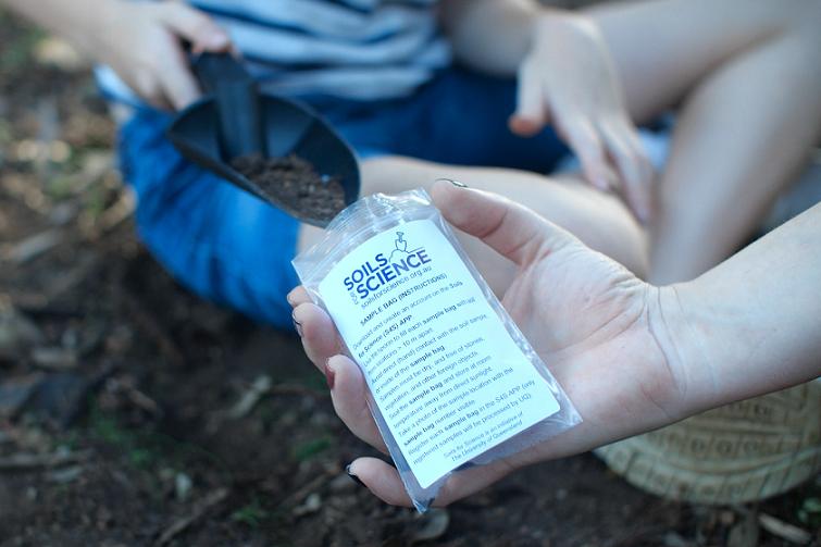 soil sample bag.