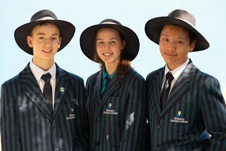 students at Brisbane Christian College in winter uniform