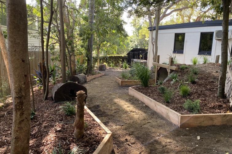 outdoor paths at kindergarten