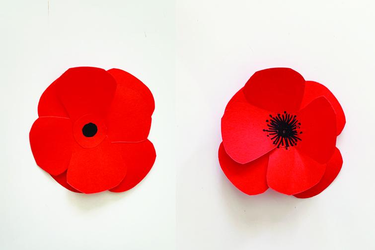 anzac paper poppy