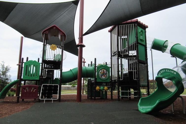 Play equipment at Blatchford Park.