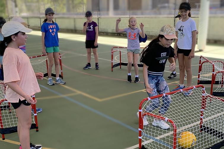 Children playing savage soccer