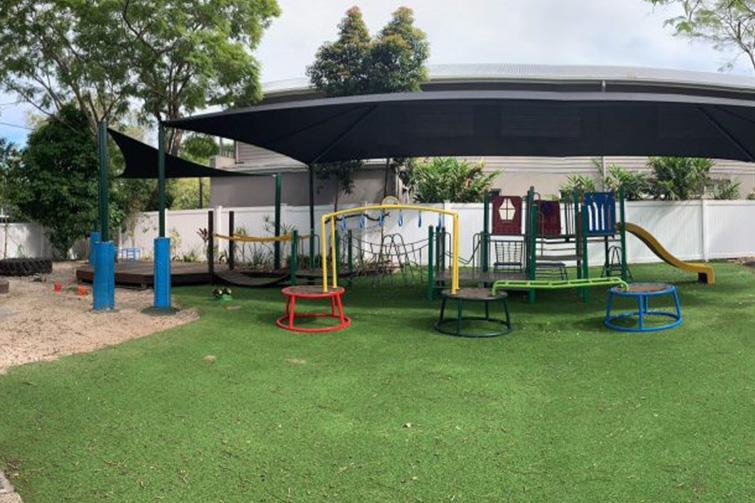 Outdoor play area at Staverton Kindergarten