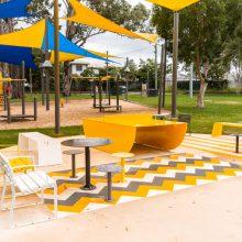 albert river park table tennis table