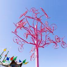 Aura treehouse bike sculpture