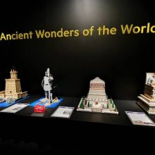 Lego displays from the Ancient Wonders of the World.