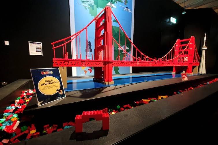 Golden Gate Bridge made from Lego.