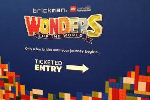 Brickman Wonders of the World Sign.
