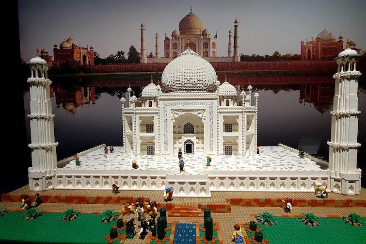 Taj Mahal made from Lego.