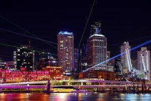 Brisbane Festival laser lights