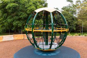 homestead park spinning globe