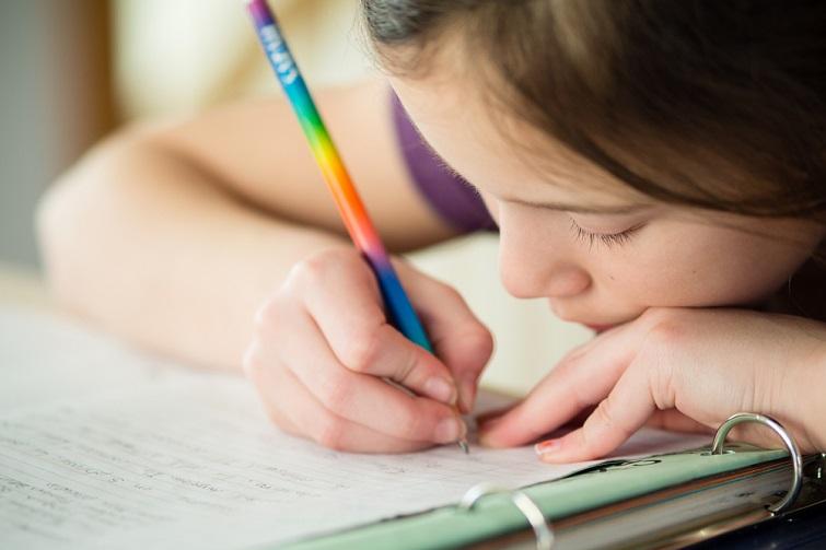child in homework centre