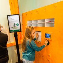 Ipswich Children's Library interactive fish scanning