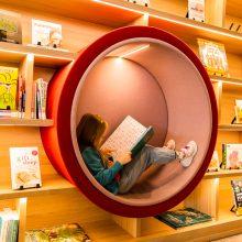 Ipswich Children's Library cozy reading nook