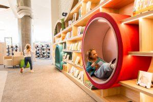 Ipswich Children's Library comfy reading nook