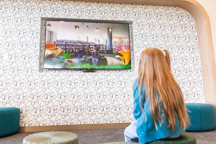 Ipswich Children's Library butterfly screen