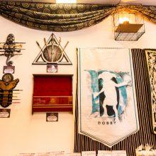 Caudrons cafe and emporium wand displays