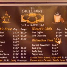 Caudrons cafe and emporium menu