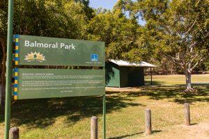 Balmoral Park sign
