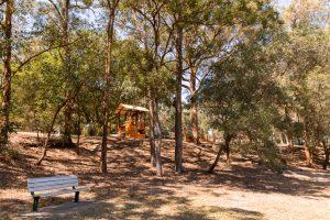 Balmoral Park hidden in trees