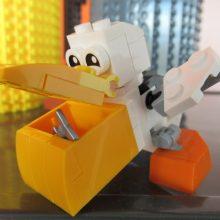 Lego pelican at Coffee n Bricks Cafe.